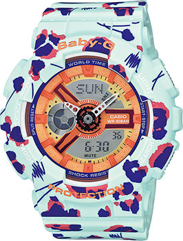 Японские наручные  женские часы Casio BA-110FL-3A. Коллекция Baby-G