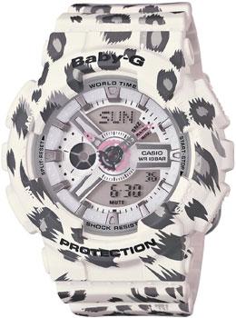 Японские наручные  женские часы Casio BA-110LP-7A. Коллекция Baby-G