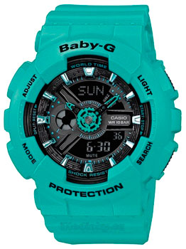 Японские наручные  женские часы Casio BA-111-3A. Коллекция Baby-G