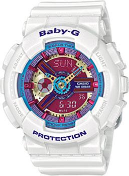 Японские наручные  женские часы Casio BA-112-7A. Коллекция Baby-G