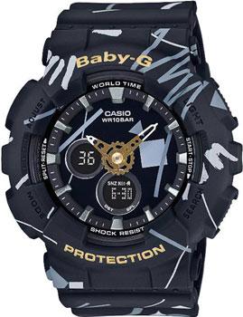 Японские наручные  женские часы Casio BA-120SC-1A. Коллекция Baby-G