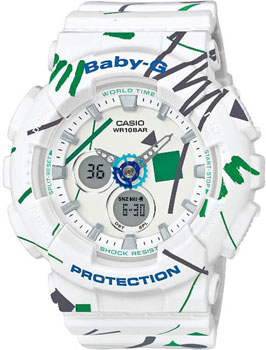 Японские наручные  женские часы Casio BA-120SC-7A. Коллекция Baby-G