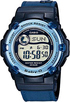 Японские наручные  женские часы Casio BG-3002V-2A. Коллекция Baby-G