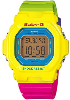 Японские наручные  женские часы Casio BG-5607-9E. Коллекция Baby-G