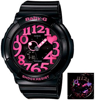 Японские наручные  женские часы Casio BGA-130-1B. Коллекция Baby-G
