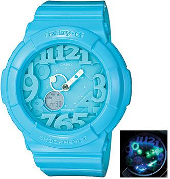 Японские наручные  женские часы Casio BGA-130-2B. Коллекция Baby-G