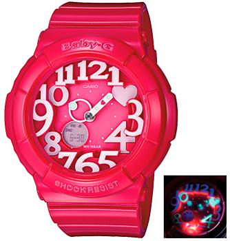 Японские наручные  женские часы Casio BGA-130-4B. Коллекция Baby-G