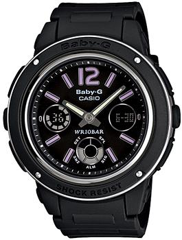 Японские наручные  женские часы Casio BGA-150-1B. Коллекция Baby-G