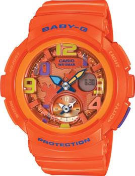 Японские наручные  женские часы Casio BGA-190-4B. Коллекция Baby-G