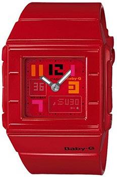 Японские наручные  женские часы Casio BGA-200PD-4B. Коллекция Baby-G