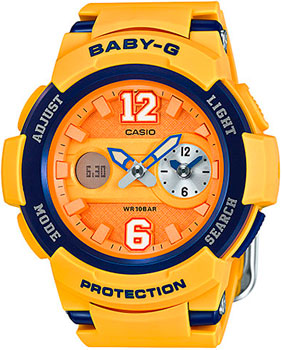 Японские наручные  женские часы Casio BGA-210-4B. Коллекция Baby-G