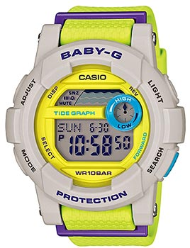 Японские наручные  женские часы Casio BGD-180-3E. Коллекция Baby-G
