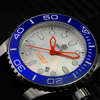 Швейцарские наручные  мужские часы Deep Blue BLUWHTQTZMOP. Коллекция Sea Ram Quartz Mop