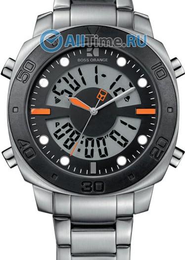 Мужские наручные fashion часы в коллекции Аналогово-цифровые Boss Orange