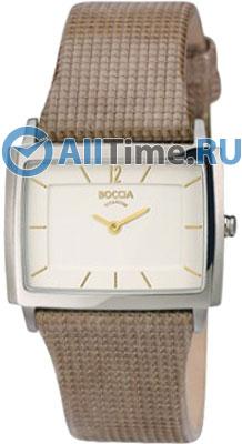 Женские наручные немецкие часы в коллекции Rectangular Boccia Titanium
