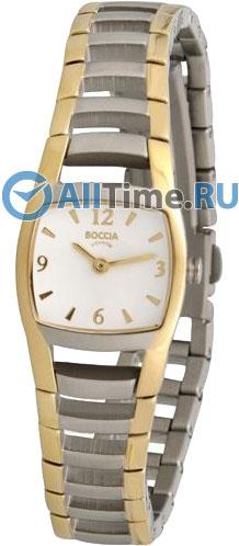 Женские наручные немецкие часы в коллекции Square Boccia Titanium
