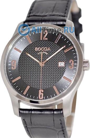 Мужские наручные немецкие часы в коллекции Circle-Oval Boccia Titanium