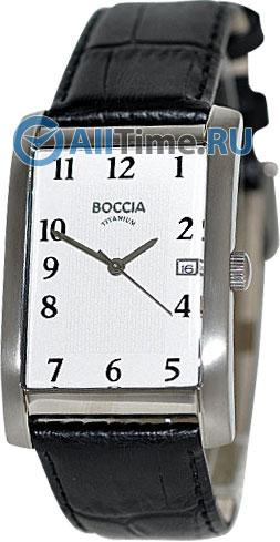 Мужские наручные немецкие часы в коллекции Rectangular Boccia Titanium