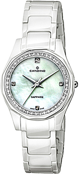 Швейцарские наручные  женские часы Candino C4351.2. Коллекция Ceramic