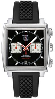 Швейцарские наручные  мужские часы TAG Heuer CAW2114.FT6021. Коллекция Monaco