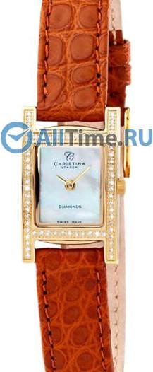 Женские наручные швейцарские часы в коллекции Rectangular Christina London