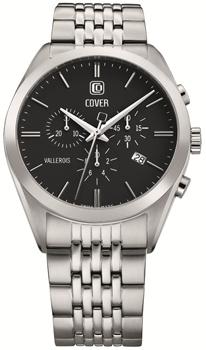 Швейцарские наручные  мужские часы Cover CO161.01. Коллекция Vallerois Chronograph