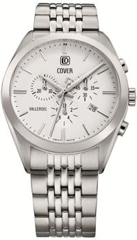 Швейцарские наручные  мужские часы Cover CO161.02. Коллекция Vallerois Chronograph