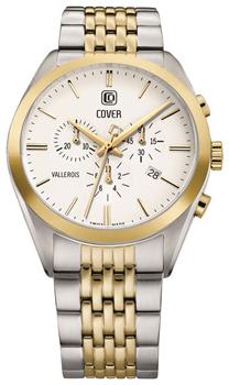 Швейцарские наручные  мужские часы Cover CO161.03. Коллекция Vallerois Chronograph