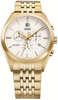 Швейцарские наручные  мужские часы Cover CO161.04. Коллекция Vallerois Chronograph