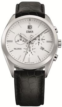 Швейцарские наручные  мужские часы Cover CO161.06. Коллекция Vallerois Chronograph