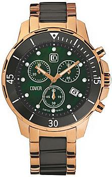 Швейцарские наручные  мужские часы Cover CO51.04. Коллекция Ceramic