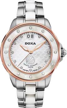 Швейцарские наручные  женские часы Doxa D151RMW. Коллекция Aqua