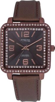 Японские наручные  женские часы Q&Q DB39J515Y. Коллекция Attractive