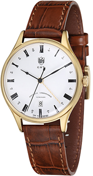 Наручные  мужские часы DuFa DF-9006-03. Коллекция Weimar Gmt