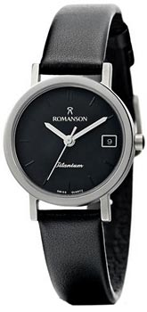 Наручные  женские часы Romanson DL9782SLW(BK). Коллекция Titanium