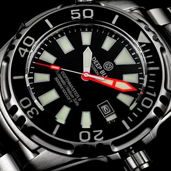 Швейцарские наручные  мужские часы Deep Blue DM3KSSBLK. Коллекция Depth Master