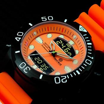 Швейцарские наручные  мужские часы Deep Blue DMADPVDORG. Коллекция Depthmeter Ana/Digi