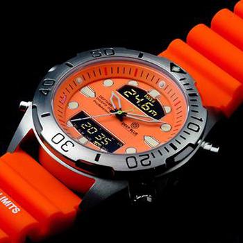 Швейцарские наручные  мужские часы Deep Blue DMADSSORG. Коллекция Depthmeter Ana/Digi