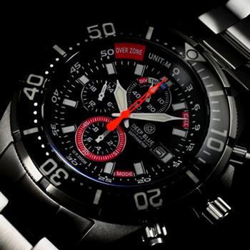 Швейцарские наручные  мужские часы Deep Blue DMTRBLK. Коллекция Depthmeter Pro