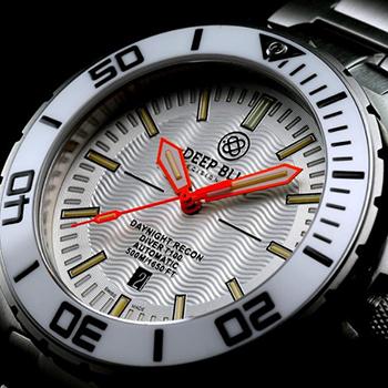 Швейцарские наручные  мужские часы Deep Blue DNR65WHTORG. Коллекция DayNight Recon T-100