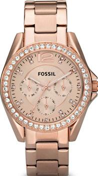 fashion наручные  женские часы Fossil ES2811. Коллекция Riley