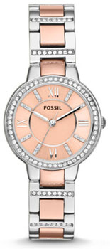 fashion наручные  женские часы Fossil ES3405. Коллекция Virginia