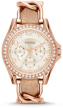 fashion наручные  женские часы Fossil ES3466. Коллекция Riley