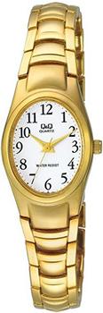 Японские наручные  женские часы Q&Q F279J004Y. Коллекция Elegant