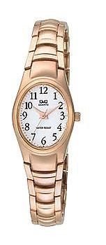 Японские наручные  женские часы Q&Q F279J014Y. Коллекция Elegant
