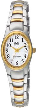 Японские наручные  женские часы Q&Q F279J404Y. Коллекция Elegant