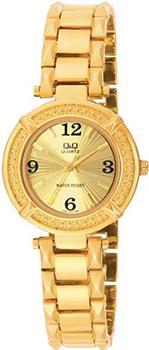 Японские наручные  женские часы Q&Q F281003Y. Коллекция Elegant