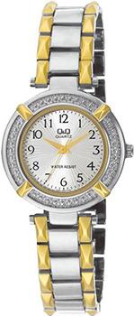 Японские наручные  женские часы Q&Q F281404Y. Коллекция Elegant