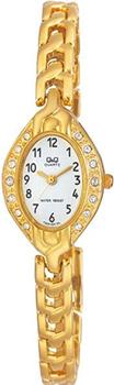 Японские наручные  женские часы Q&Q F303004Y. Коллекция Elegant
