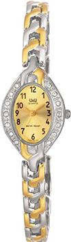 Японские наручные  женские часы Q&Q F303403Y. Коллекция Elegant